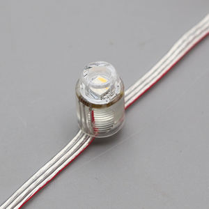 Addressable SM16704 RGBW Pixel LED String Lampu 12 Mm DC5V Penuh Warna Tahan Air IP68