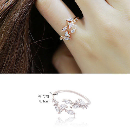 High quality sterling silver ring pure 925 silver women ring leaves design free shipping