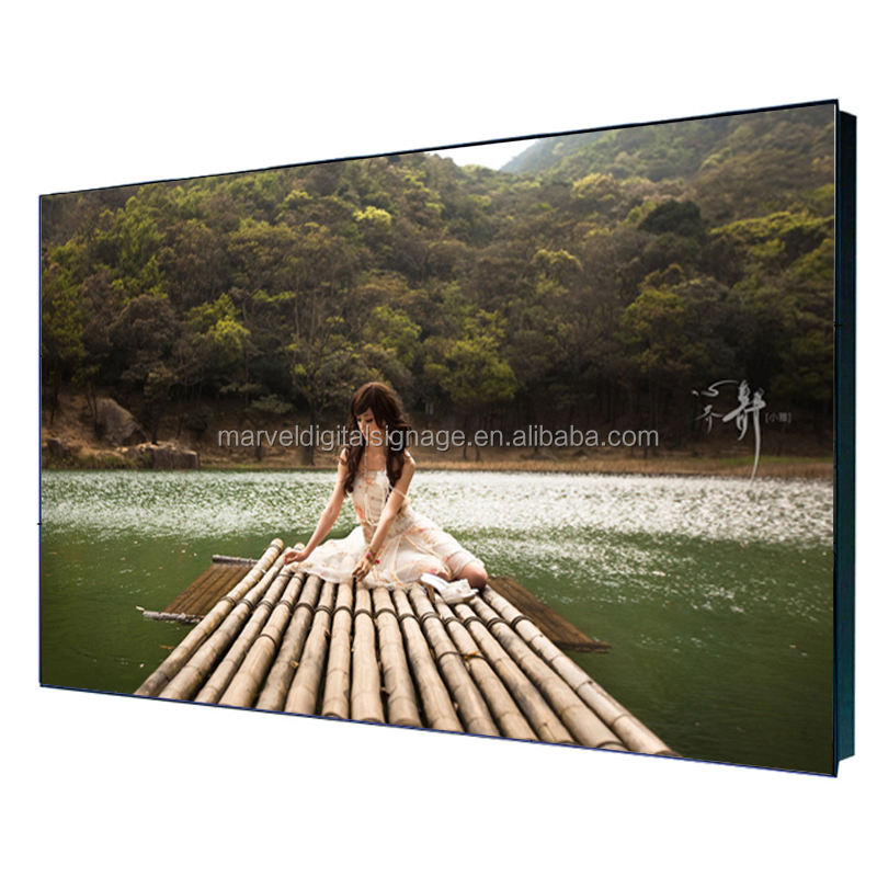 55 inch lg video mulus bezel lcd tv dinding dinding 3.5mm ultra slim