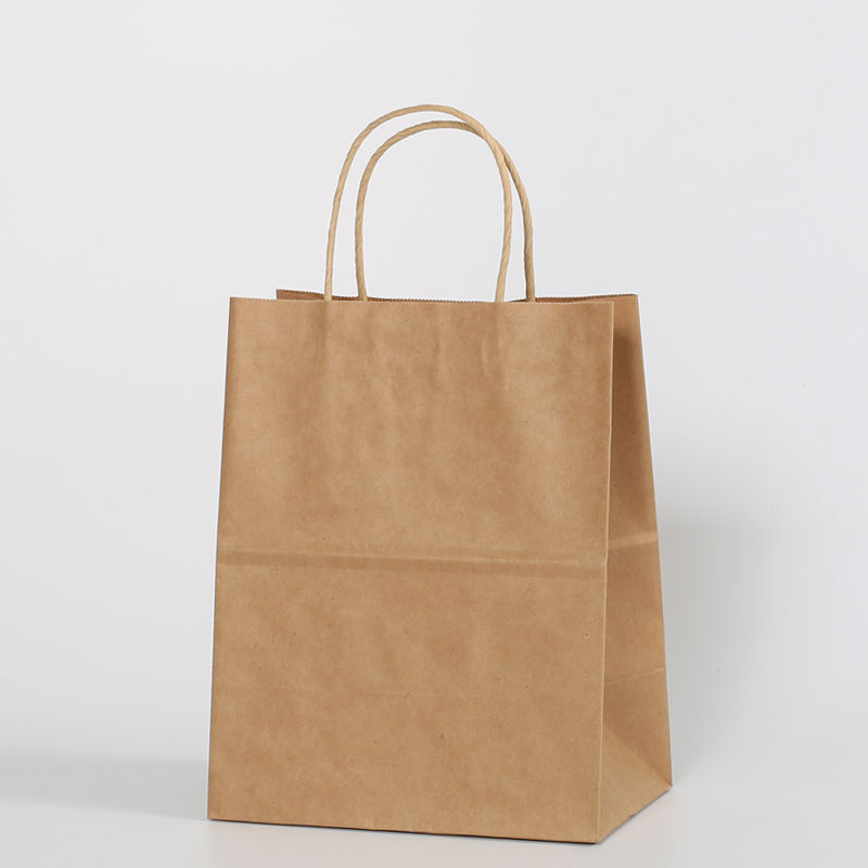Low price brown kraft paper bag with window,food paper packing bag