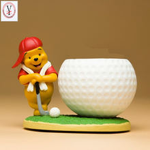 Resin cartoon Winnie golf pen holder