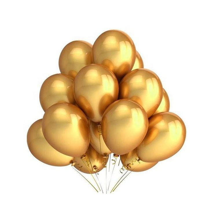 Amazon Hot sale gold color Custom Personalized Pearl Inflatable gold Latex metallic Balloons gold balloon