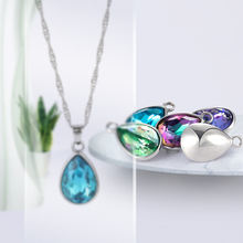 Xichuan K9 Glass Drop Fancy Stone with Alloy Pendant Charming