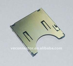 memory sd card connector 2 to 1pin SMD
