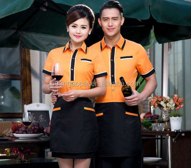 custom design bar restaurant hotel waitress design server uniform