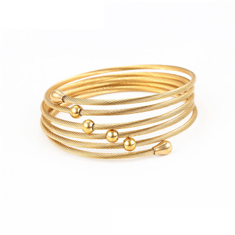 Necklace And Earring Sets Rings Women Set S-209 Xuping Fashion Jewelry Cuff Bracelet And Ring Stainless Steel Jewelry Woman 24K Gold Plated Jewelry Sets