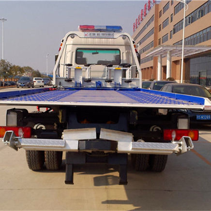Dongfeng Tianjin 4x2 190HP Flatbed Wrecker Towing Truck folding tow dolly