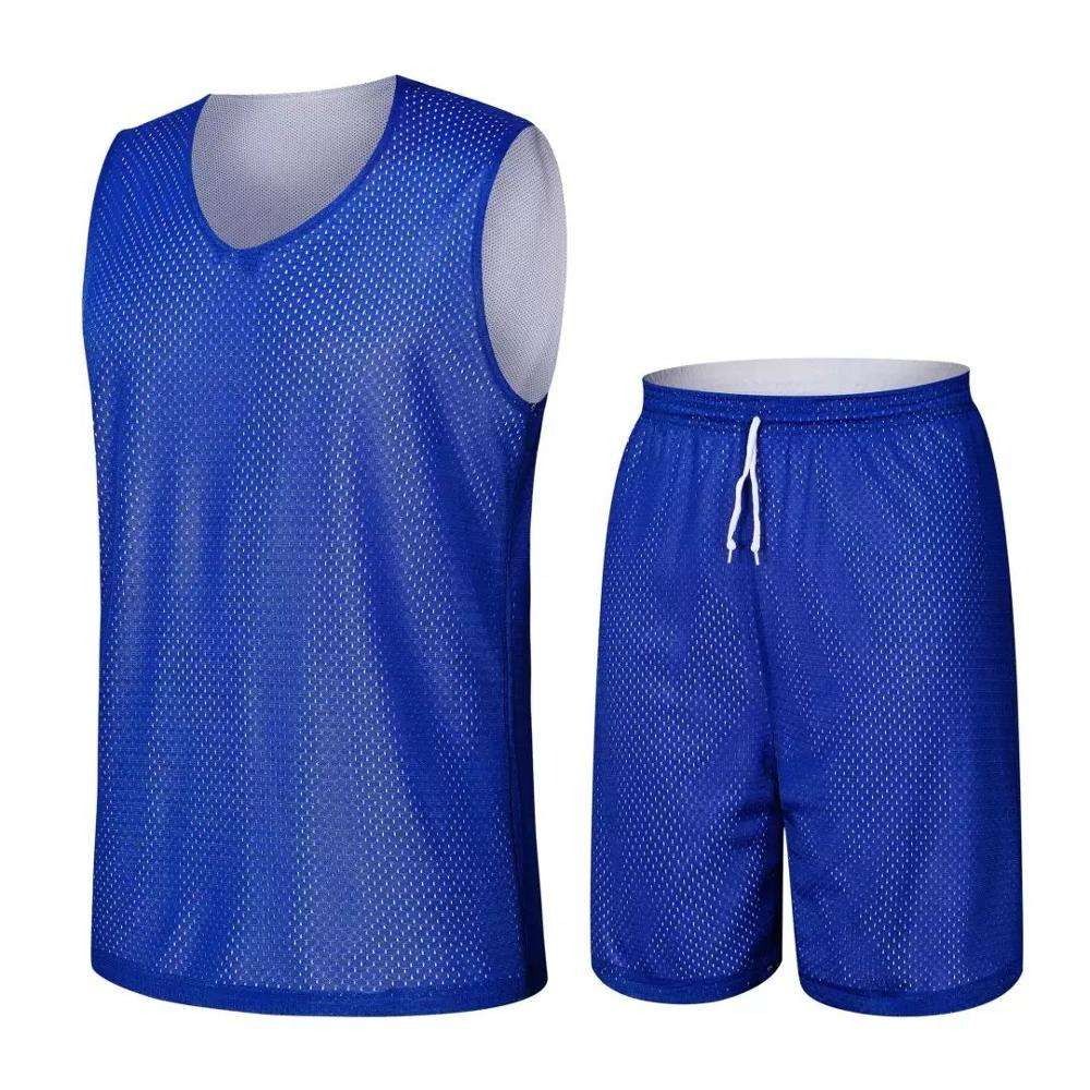 Wholesale New Design Sleeveless V Neck Competition Custom European Size Screen Printing Stairs Eyelet Mesh Basketball Jerseys