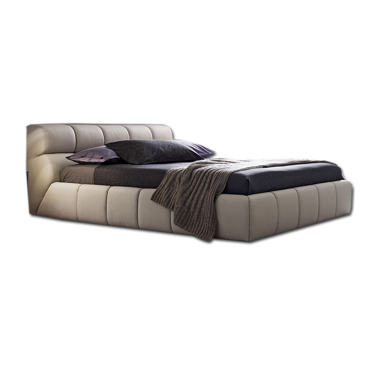 European King Luxury Leather modern furniture china leather beds