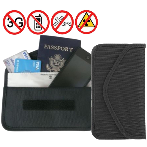 Anti-radiation Bag GPS RFID Signal Blocker Pouch Wallet Phone Case For iPhone/Samsung