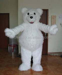 High quality white bear adult animal costume white bear adult mascot costume for adult