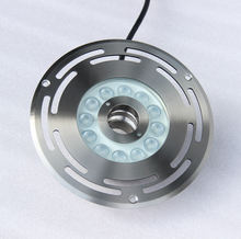 12W Full color round LED water jet LED fountain light