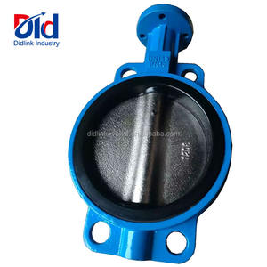 Food Grade DN150 PN16 Cast Iron Viton Seated Triple Offset With Tamper Switch Butterfly Valve Cheap Prices