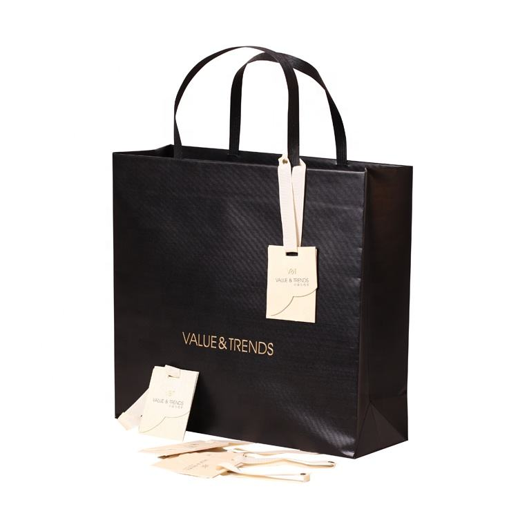 Custom branded promotional embossing shopping gift paper bags
