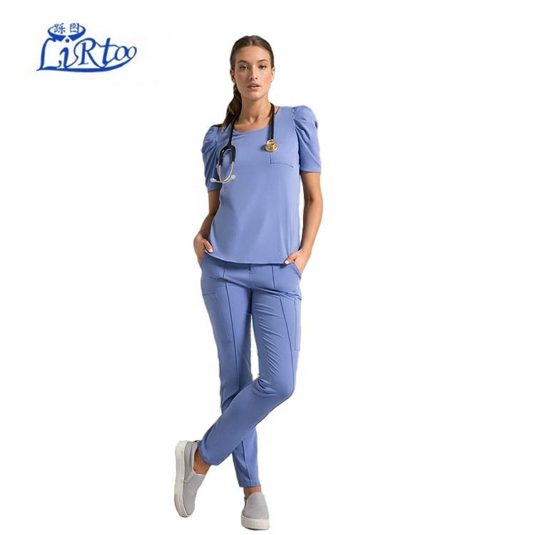 Custom Summer Scrubs set hospital uniform for health care workers in clinics and hospitals