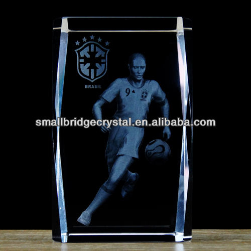 k9 Crystal 3d Laser Crystal Engraving Glass Cube of Sports for Wedding Gifts