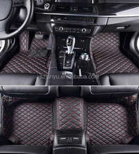 PREMIUM DIAMOND 5D CAR FLOOR MATS (BLACK WITH RED STITCHING) - LAN-D ROVER SPORT