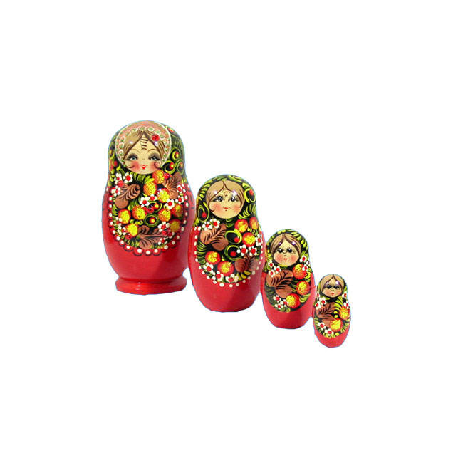 Red russian dolls ceramic russian custom matryoshka dolls