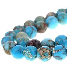 Blue Imperial Jasper Gemstone Loose Beads