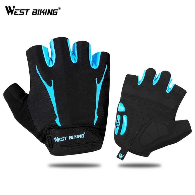 WEST BIKING Breathable Hand Gloves Half fingers bicycle cycling gloves sports Gym Exerice Protect Adult Fashion Riding Gloves