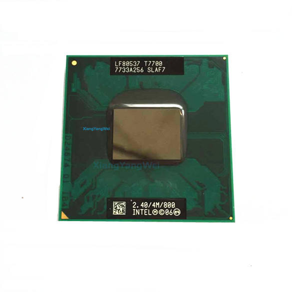 For Intel Core 2 Duo T7700 notebook CPU Laptop processor PGA 478 cpu 100% working properly