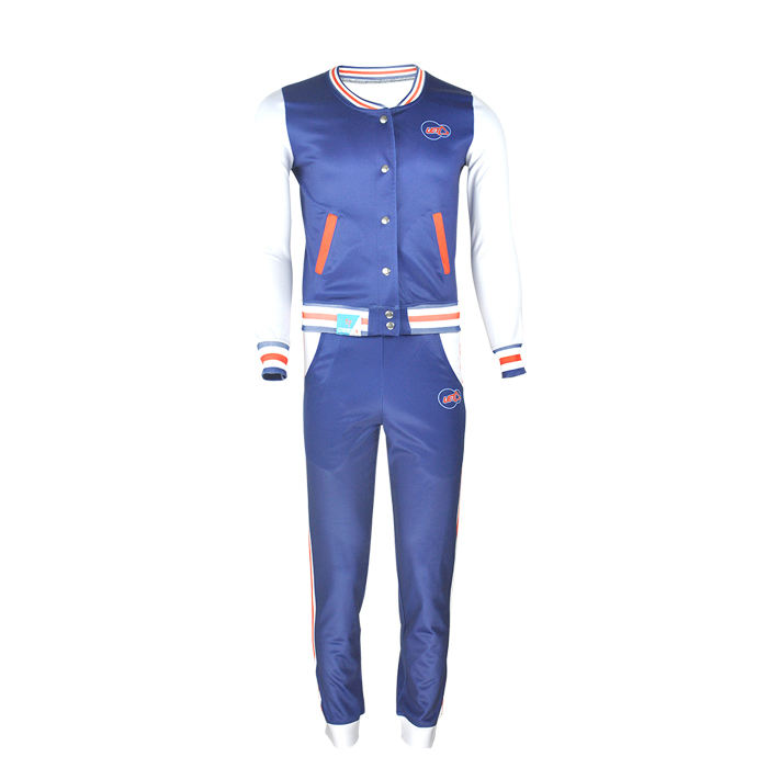 OEM sublimation plain full button baseball jacket