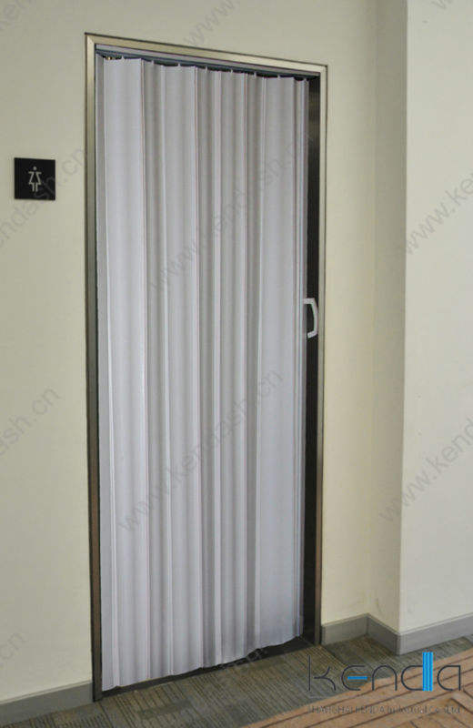 Interior pvc sliding door 0.6mm building decoration material accordion