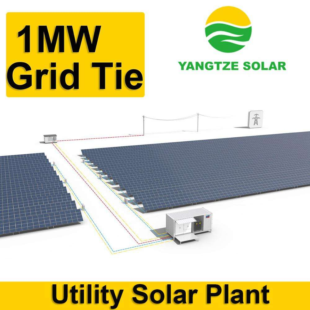 25 years warranty on grid solar panel 1mw system for thousands of people using
