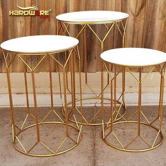 Stainless steel base round wedding decoration pillar