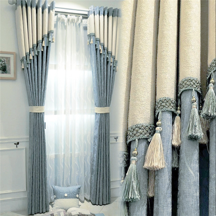 One way vision blackout curtains for the living room luxury with attached valance
