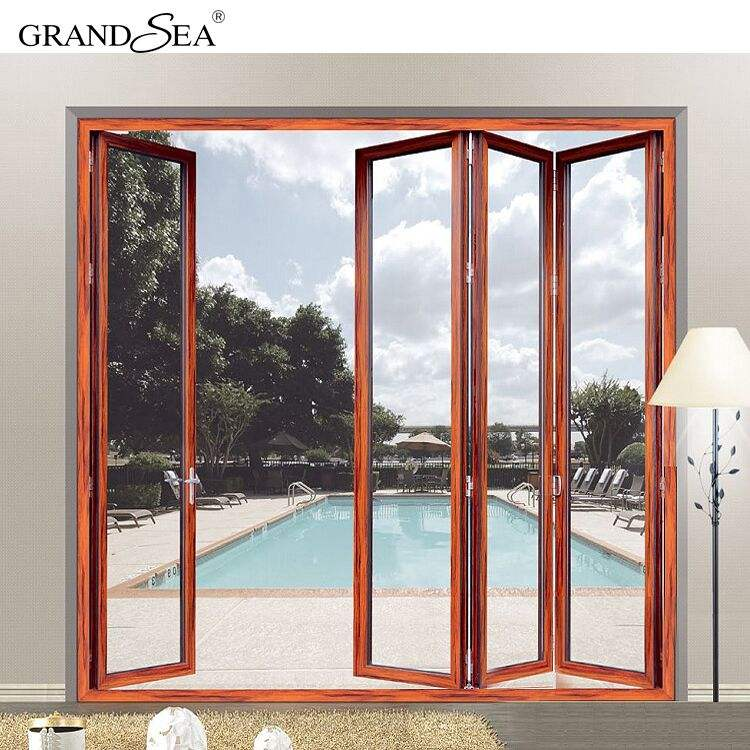 Large opening front aluminum alloy folding door and window manufacturing