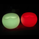 portable colors changing illuminated led commercial outdoor furniture apple shaped led lumen stool with battery