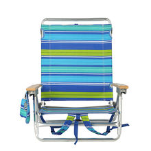 lightweight aluminum portable folding portable backpack beach recline chair with cell phone pocket