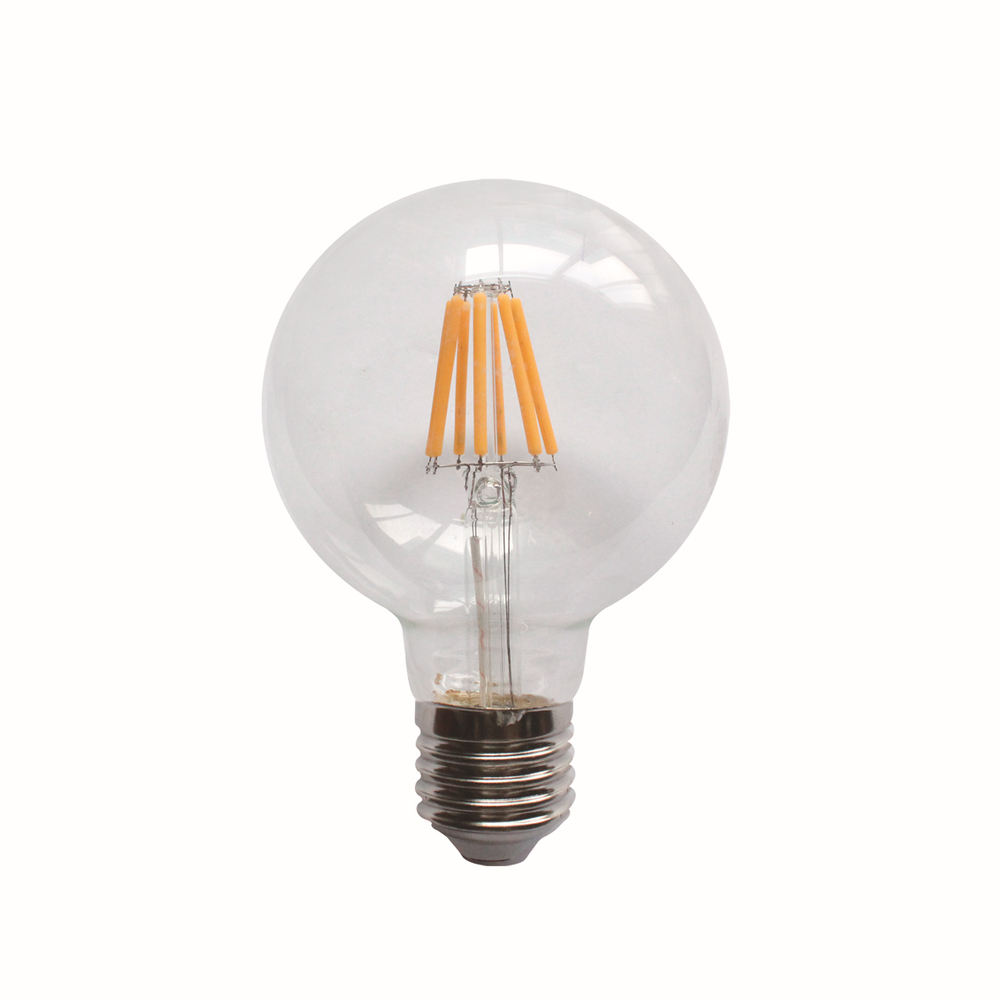 Dimbare E27 G80 gloeilamp licht clear/amber/melkachtige/frosted glas shell led lamp