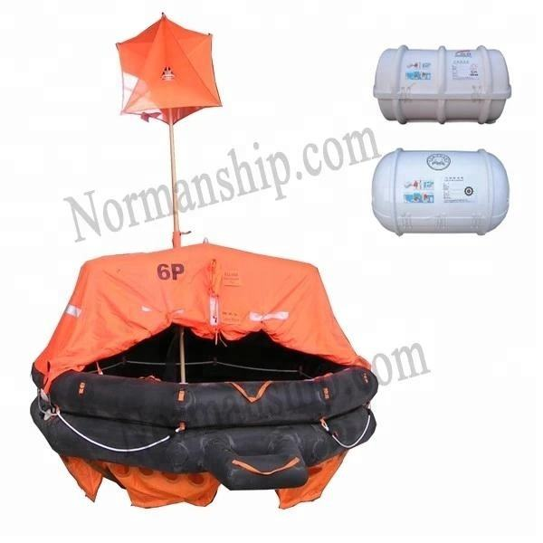 Solas 10 person throwing inflatable viking liferaft with cheap price CCS/ZY/GL/EC