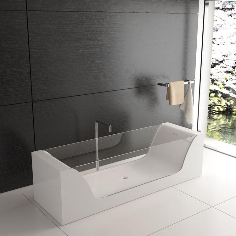 SM-8647 Unique artificial marble bathtub bathroom baths special solid surface glass tub