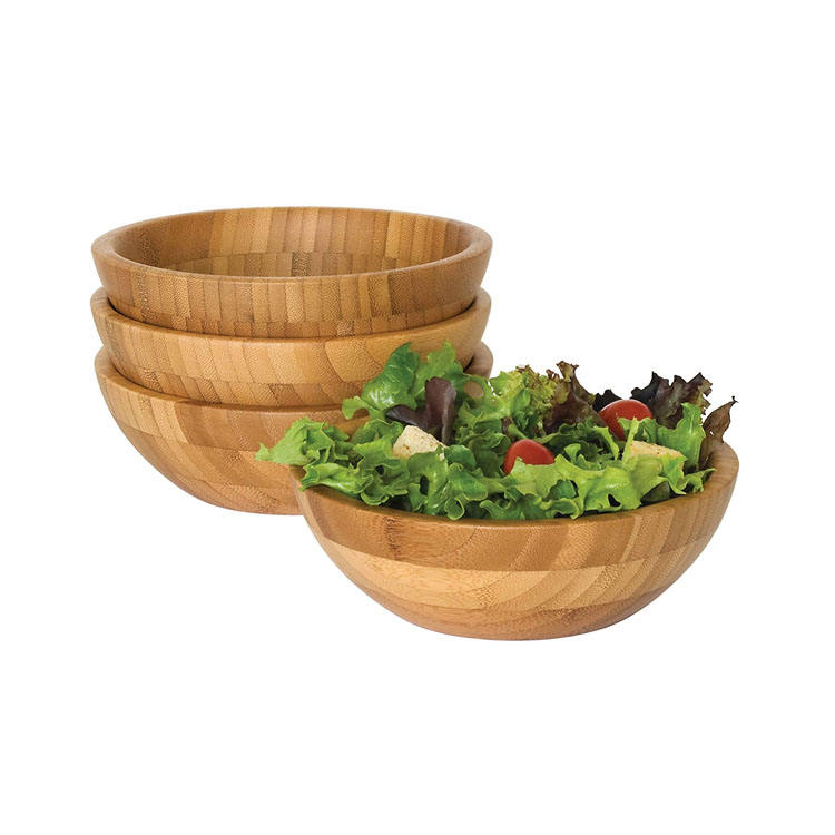 Cheap Round Bamboo Wooden Salad Bowl