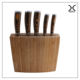 5PCS Pakka wood handle kitchen knife set