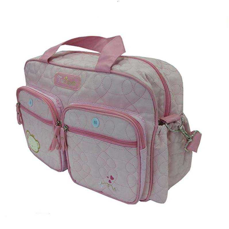 Muti-function pink color lovely baby adult diaper kit bag