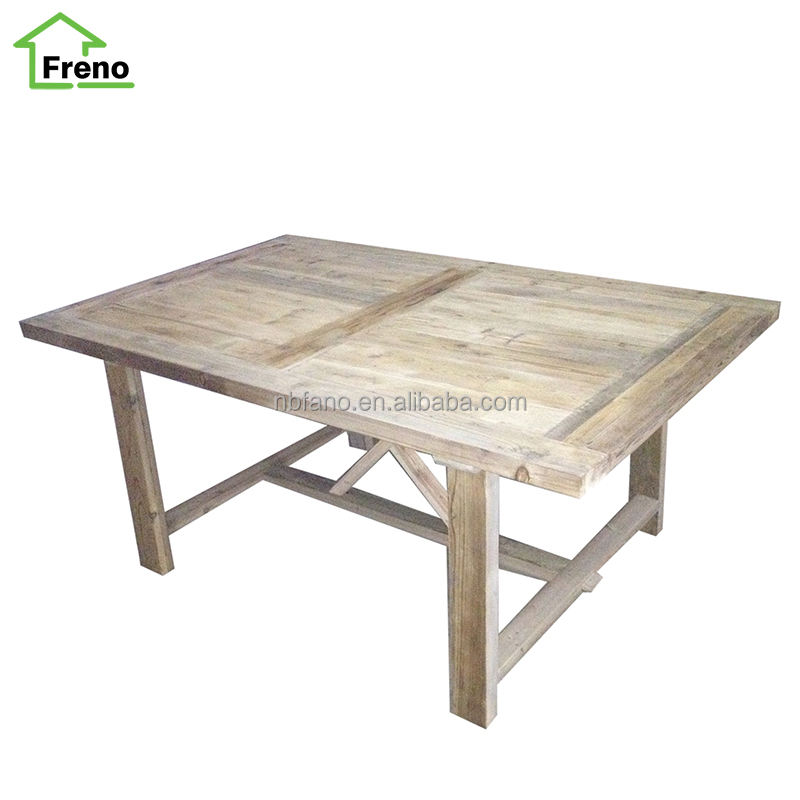 FN-1663 Vintage Refectory Dining Table Reclaimed Wood Furniture