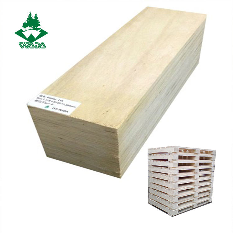 WADA cut to sizes poplar wooden packing lvl timber prices for pallets