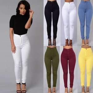 F20531A New arrival women's candy color skinny pants lady pencil pants trousers for women