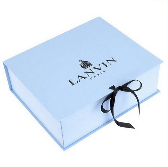 Custom luxury paper baby ribbon folding box clothing packaging gift storage boxes,foldable gift box