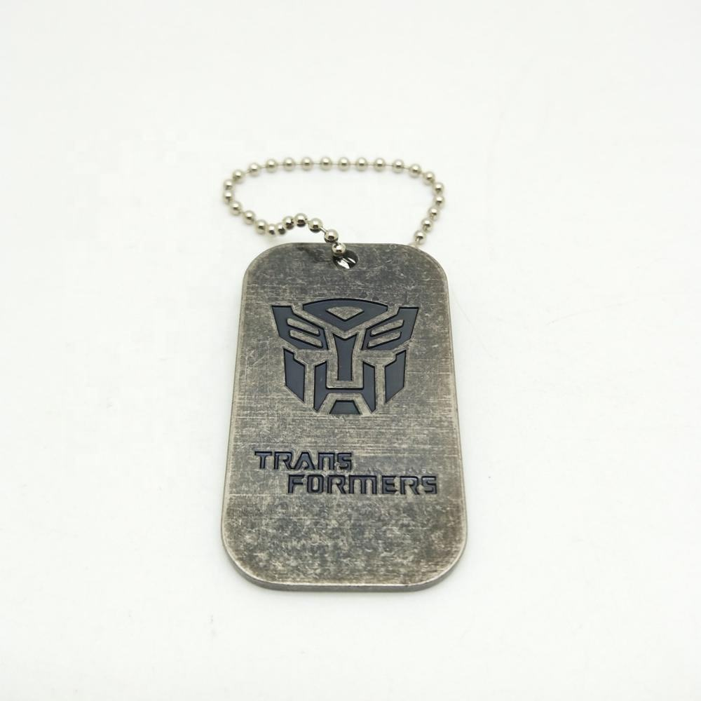 Monster Thema DogTag, metall ID Tag Halskette