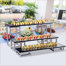 Catering buffet equipment glass elevation cake snack dessert stand display ,  high tea 3 tier buffet stand