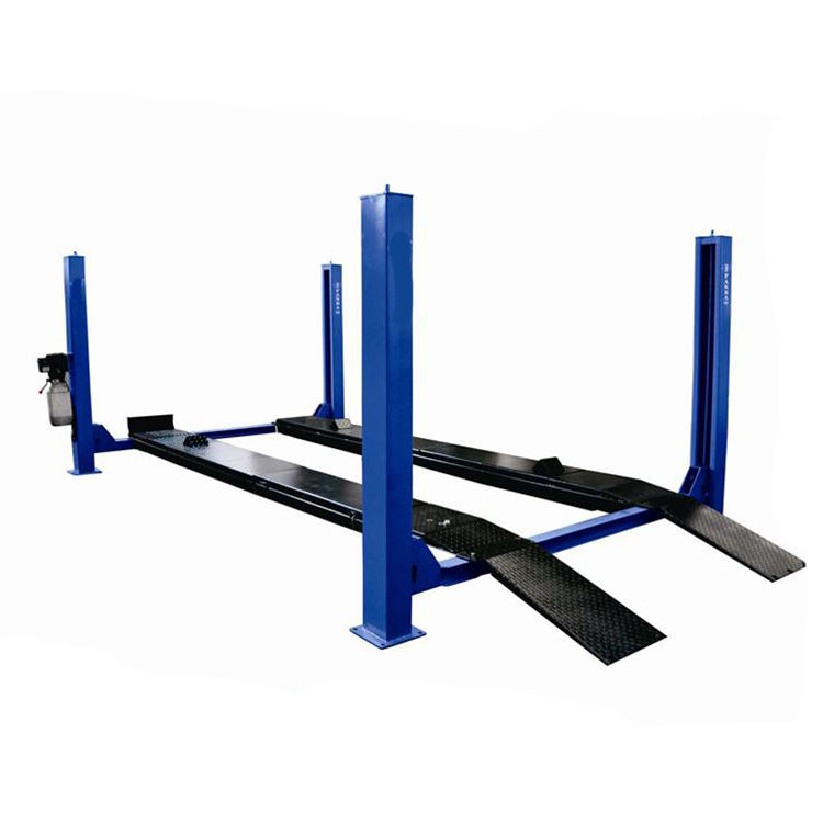 four post car lift alignment with rear sliding plate for doing wheel aligmnet