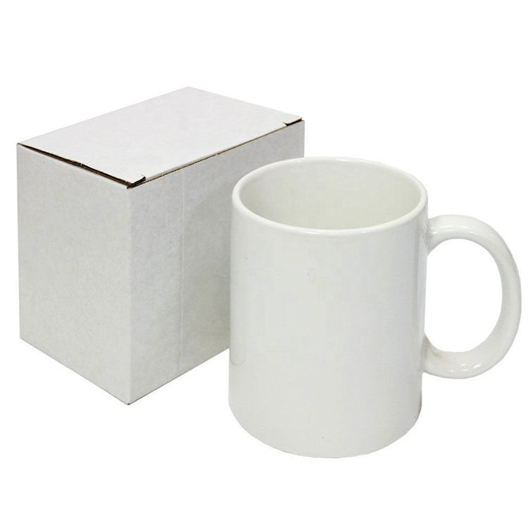 Small Quantity 11oz White Custom Logo Ceramic Mug for Christmas