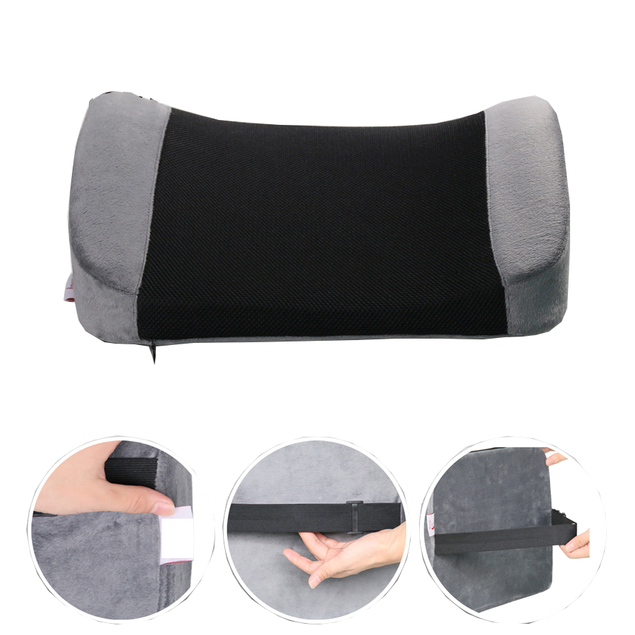 Square Bus Driver Seat Cushion Lumber Sciatica Shenzhen Memory Foam Wedge Pillows Lumbar Back Support Cushion For Office Chair