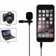 6m wired laveider external clip-on lapel Portable mini Omni-directional hand free Microphone For music Player interview