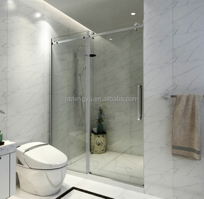 tempered glass shower ISO BV CE bathtub room frameless glass shower door and hardware